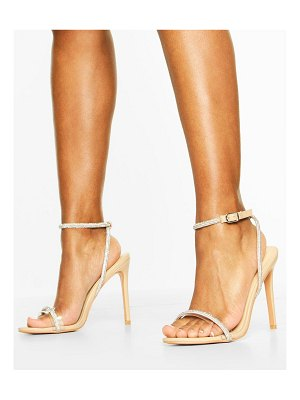 Boohoo Embellished Clear 2 Part Heels