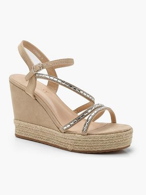 Boohoo Embellished Strappy Wedges