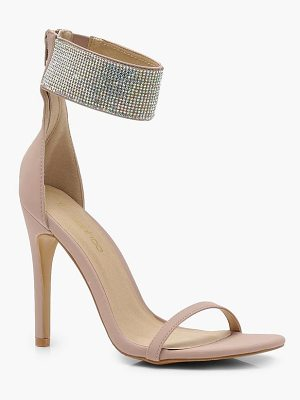 Boohoo Diamante Cuff 2 Part Heels