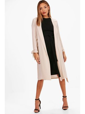 Boohoo Woven Belted Tie Cuff Duster