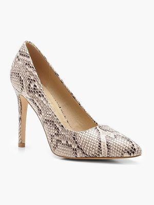 Boohoo Snake Effect Pointed Court Shoes
