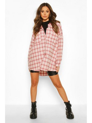 Boohoo Extreme Oversized flannel Shirt With Pockets