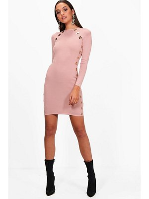 Boohoo Eyelet Detail Bandage Bodycon Dress