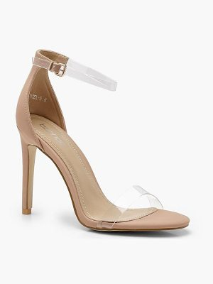 Boohoo Clear Band 2 Part Heels