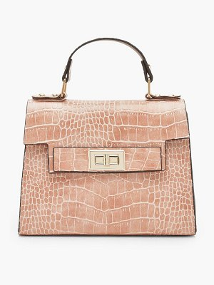 Boohoo Faux Croc Small Tote Bag