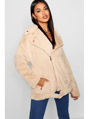 Boohoo Faux Fur Aviator