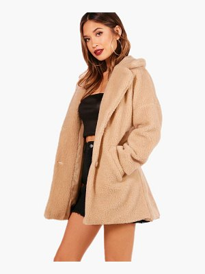 Boohoo Faux Fur Teddy Coat