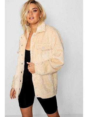 Boohoo Faux Fur Trucker Jacket
