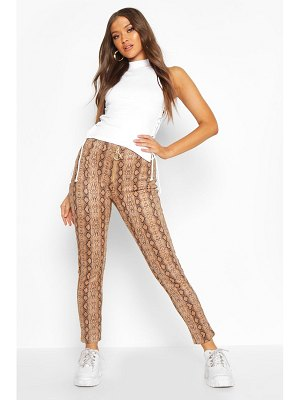 Boohoo Faux Suede Snake Print Super Stretch Legging