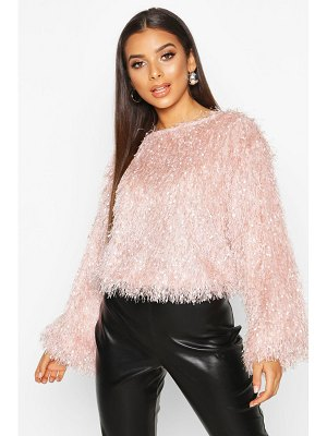 Boohoo Feather Knit sweater