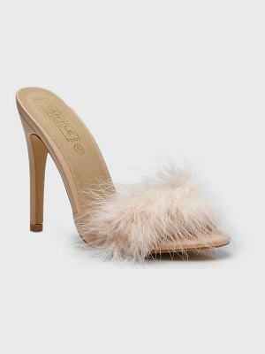 Boohoo Feather Mules