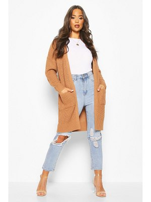 Boohoo Fisherman Edge To Edge Boyfriend Cardigan
