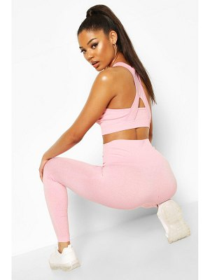 Boohoo Fit Contoured Supportive Waistband Seamless Leggings