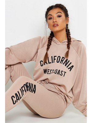 Boohoo Fit Cropped California Tracksuit