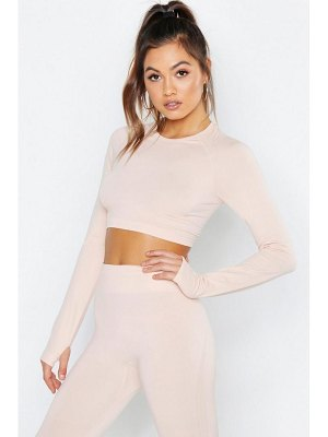 Boohoo Fit Seamfree Long Sleeve Crop Yoga Top