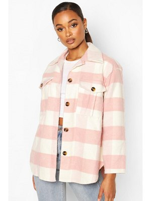 Boohoo Flannel Oversized Shacket