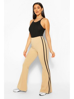 Boohoo Flared Pants With Sport Stripe