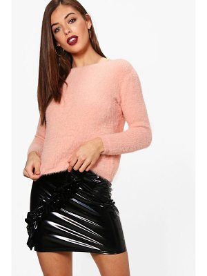 BOOHOO Frankie Fluffy Knit Oversized Jumper