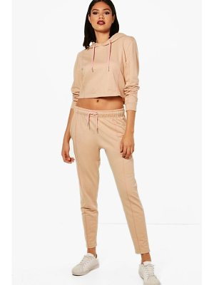 BOOHOO Freya Athleisure Cropped Hooded Tracksuit