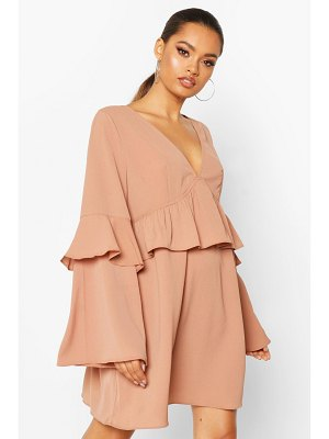 Boohoo Frill Detail Smock Dress