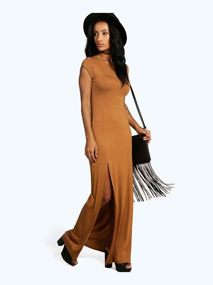 Boohoo Front Split Maxi Dress