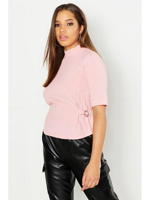Boohoo Funnel Neck O Ring Top