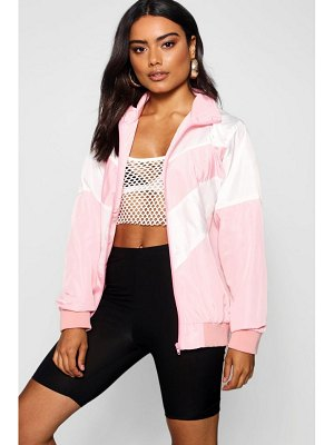 Boohoo Funnel Neck Panelled Windbreaker