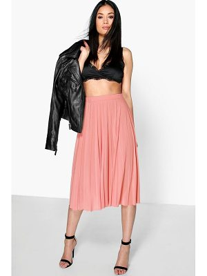 Boohoo Geneva Pleated Slinky Midi Skirt