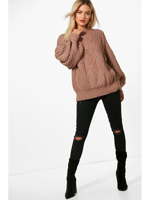 Boohoo Oversized Cable sweater