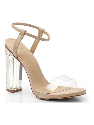 Boohoo Halo Ankle Band Clear Heel 2 Parts