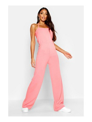 Boohoo Halter Neck Knitted Jumpsuit