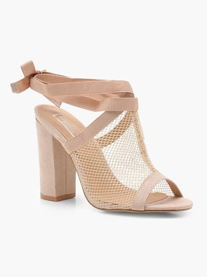 Boohoo Mesh Cage Strap Sandals