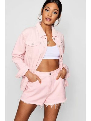 Boohoo Raw Hem Denim Shorts