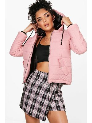 BOOHOO Harriet Hooded Padded Jacket
