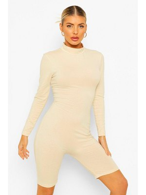 Boohoo High Neck Long Sleeve Romper