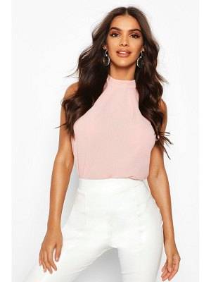 Boohoo High Neck Sleeveless Blouse
