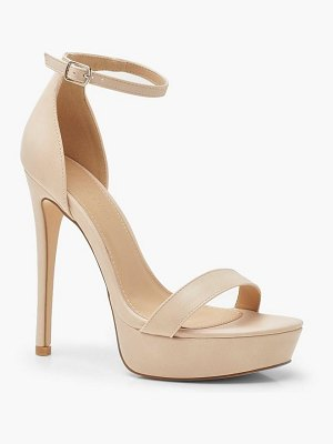 Boohoo High Platform 2 Part Heels
