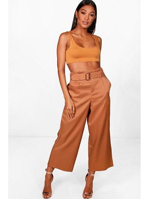 Boohoo High Waisted Belted Trouser