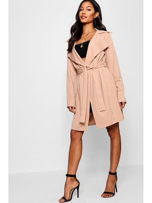 Boohoo Holly Collared Belted Duster Jacket