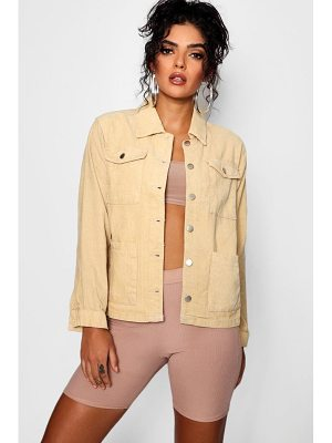 Boohoo Holly Oversized Cord Trucker Jacket