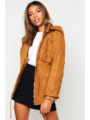 Boohoo Hooded Utility Jacket
