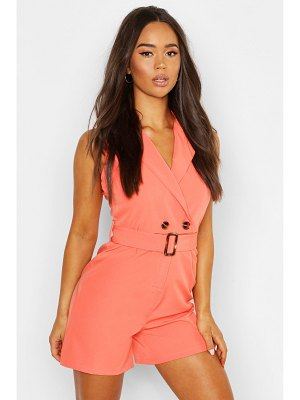 Boohoo Horn Buckle Tailored Romper