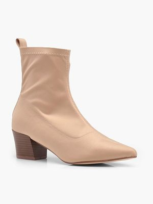 BOOHOO Isabella Stretch Sock Pointed Ankle Boots