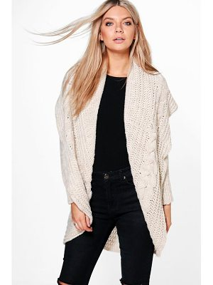 Boohoo Loose Cable Knit Oversized Cardigan