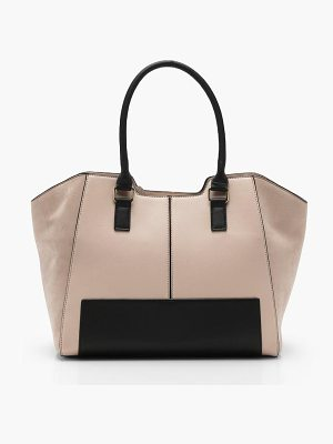 Boohoo Colour Block Winged Tote