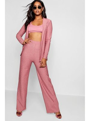 Boohoo Sparkle Stripe Wide Leg Trouser