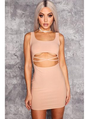 Boohoo Jackie Square Neck Cut Out Detail Bodycon Dress