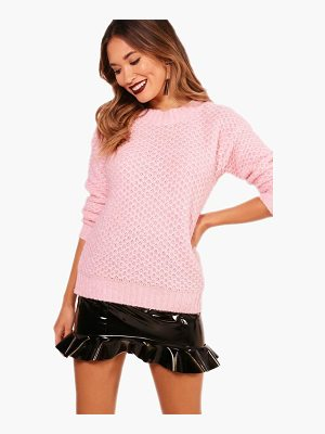 BOOHOO Jasmine Oversized Soft Knit Jumper