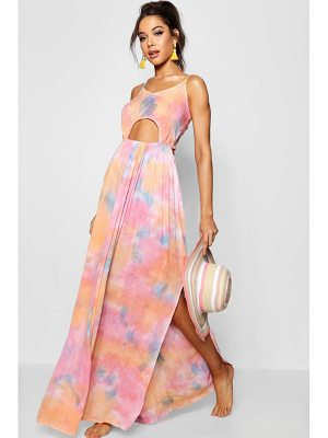 Boohoo Tie Dye Cut Out Beach Dress