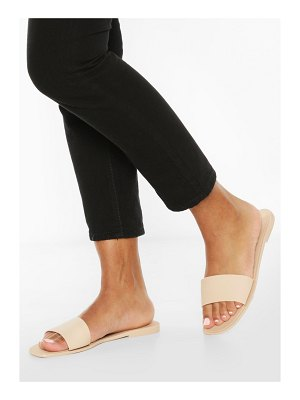 Boohoo Jelly Square Toe Slides